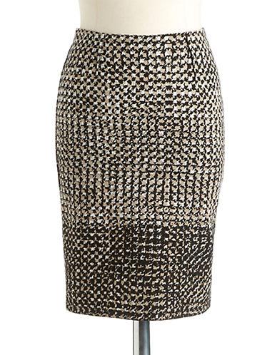 LORD & TAYLORPetite Printed Ponte Pencil Skirt