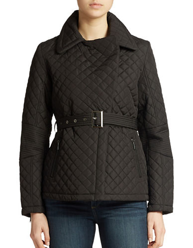 DKNYBelted Quilted Moto Jacket