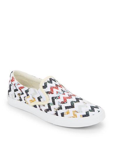 Buy Her Garden Chevron Low Top Canvas Slip-On Sneakers by Bucketfeet online