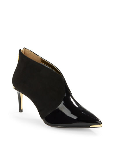 TED BAKERHainns Patent Leather and Suede Booties