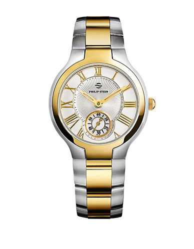 Ladies Small Two-tone Gold Plated Round Watch