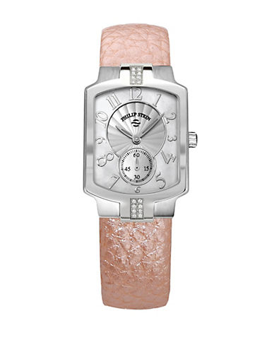Ladies Sport Watch with Rose Leather Strap
