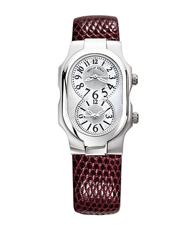 Ladies Silvertone and Leather Watch