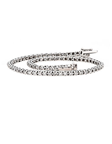 LORD & TAYLOR14Kt. White Gold and Diamond Tennis Bracelet