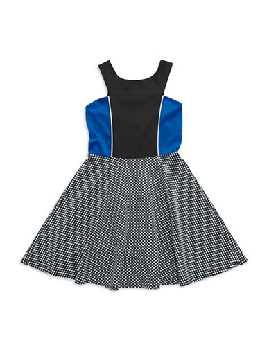 SALLY MILLERGirls 7-16 Contrast Fit and Flare Dress