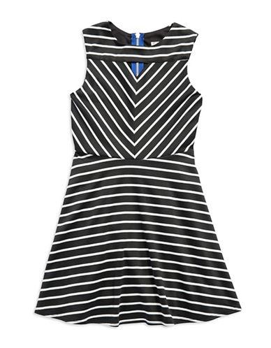 SALLY MILLERGirls 7-16 Striped Panel Dress