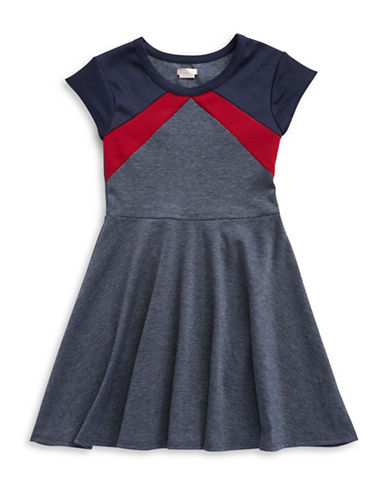 SALLY MILLERGirls 7-16 Colorblocked Fit And Flare Dress