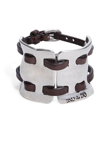 UNO DE 50Cosido Madrileno Leather Cuff Bracelet