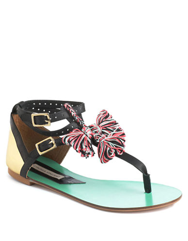 12TH STREET BY CYNTHIA VINCENT Fanny Leather Sandals - Lord and Taylor