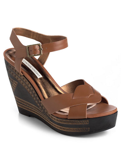 12TH STREET BY CYNTHIA VINCENT Luz Leather Platform Wedge Sandals - Lord and Taylor