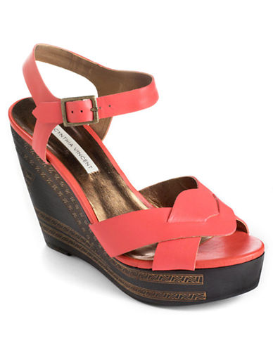 TWELFTH ST BY CYNTHIA VINCENT Luz Leather Platform Wedge Sandals