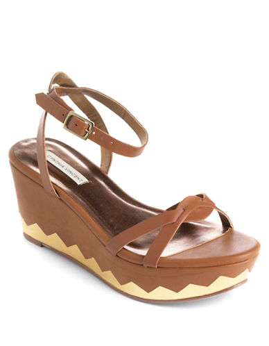 12TH STREET BY CYNTHIA VINCENT Maj Leather Platform Sandals - Lord and Taylor