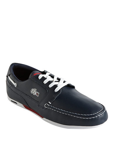 LACOSTE Dreyfus Leather Boat Shoes