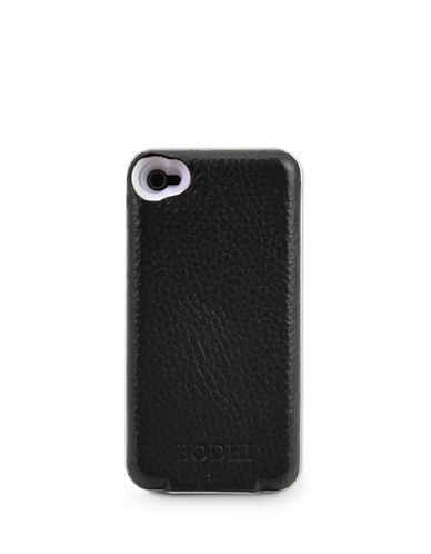 Leather Bluetooth Keyboard Case for iPhone 4