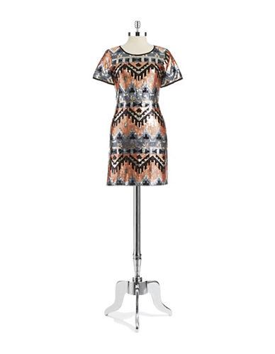 DESIGN LABAztec Sequined Bodycon Dress