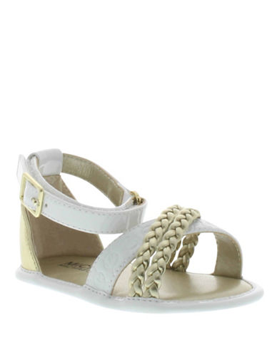 michael kors baby baby millie leatherette sandals