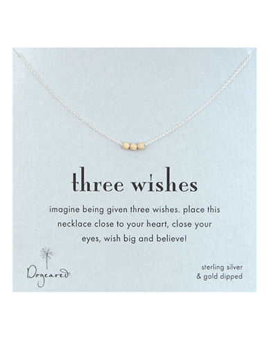 Dogeared '3 Wishes' Gold Stardust Bead Necklace