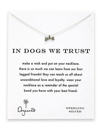 Dog Bone Charm Necklace