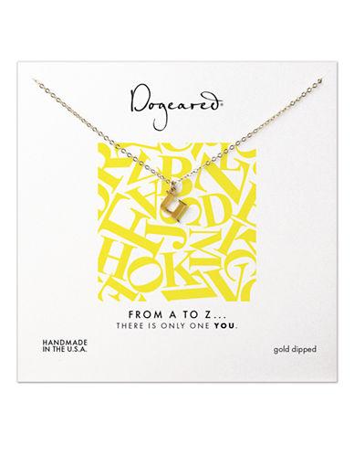 DOGEARED'U' Letter Pendant Necklace