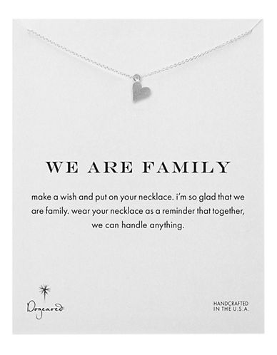 Dogeared We Are Family Open Heart Necklace