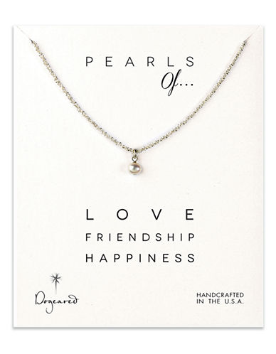 DOGEAREDSterling Silver and Coin Pearl Pendant Necklace