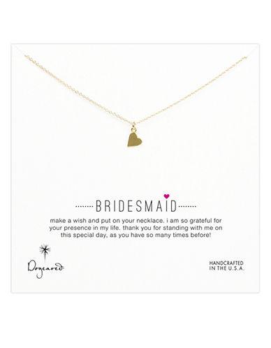 DOGEAREDBridesmaids Heart Pendant Necklace