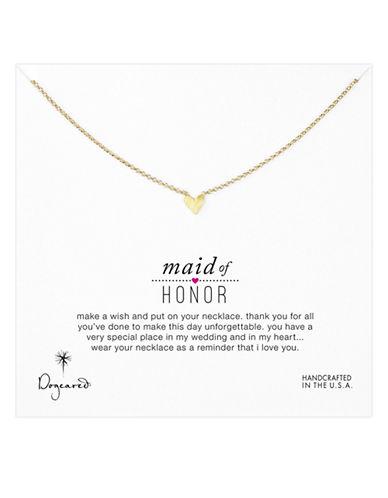 DOGEAREDMaid Of Honor Heart Pendant Necklace