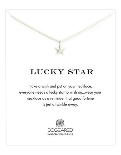 DOGEARED'Lucky Star' Pendant Necklace