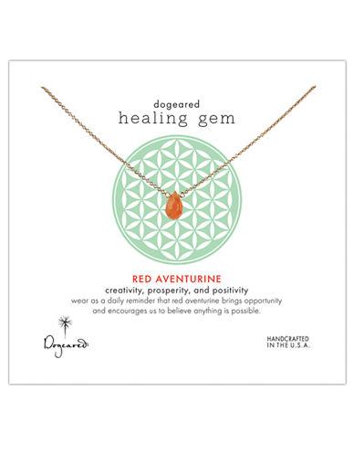 DOGEAREDHealing Gem Red Aventurine Pendant Necklace