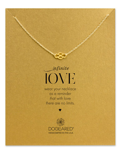 DOGEARED14K Gold Dipped Infinite Love Pendant Necklace