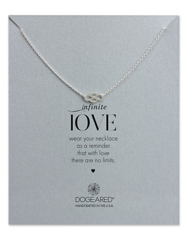 DOGEAREDSterling Silver Infinite Love Pendant Necklace