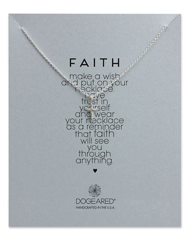 DOGEARED Sterling Silver Cross Pendant Necklace