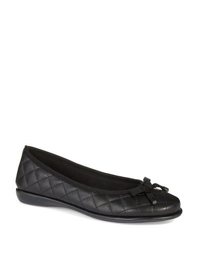 THE FLEXX Bon Gout Quilted Leather Flats