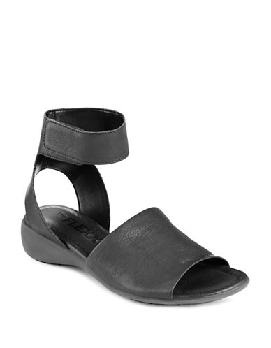 Shop The Flexx online and buy The Flexx Beglad Leather Open Toe Wedge Sandals shoes online