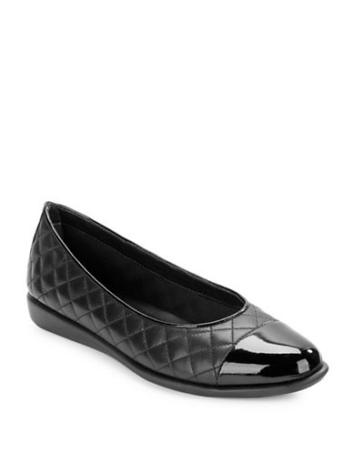 Buy Rise A Smile 2 Cap-Toe Quilted Leather Flats by The Flexx online