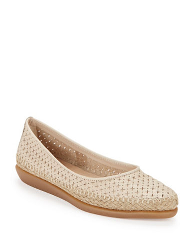 Buy Torri Perforated Leather Flats by The Flexx online