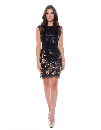 DECODE 1.8Sequined Floral Sheath Dress
