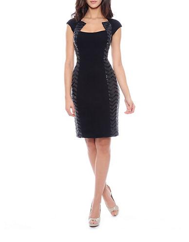 DECODE 1.8Sequined Inset Sheath Dress