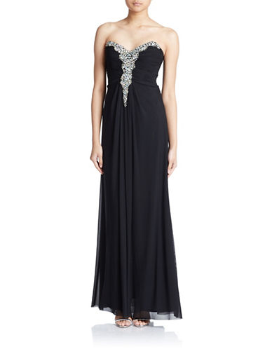 Beaded Sweetheart Neck Gown $93.53 AT vintagedancer.com
