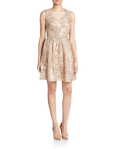 Shop Decode 1.8 online and buy Decode 1.8 Sequined Filigree Embroidered Dress dress online
