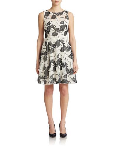 Shop Eva By Eva Franco online and buy Eva By Eva Franco Harpers Fit and Flare Leaf Shadow Dress dress online