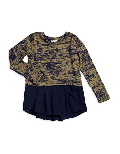KIDDO Girls 7-16 Pattered Peplum Tee