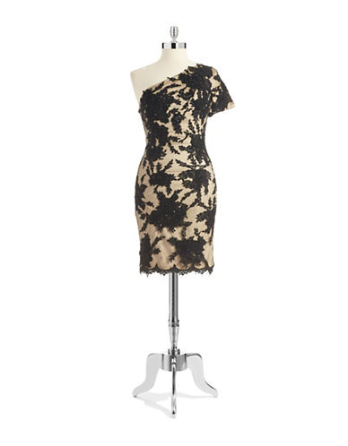 JULIAN JOYCEOne Shoulder Lace Dress