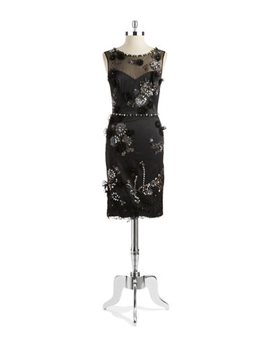 JULIAN JOYCE Beaded Floral Dress