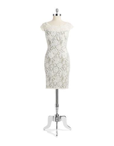 JULIAN JOYCEBead and Lace Shift Dress
