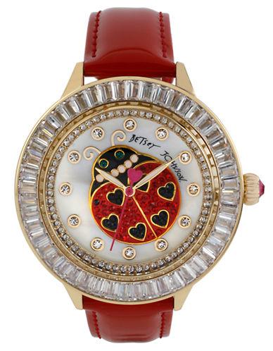 BETSEY JOHNSONLadies Lady Bug Dial Watch