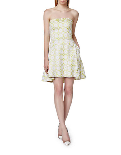 Shop Erin Fetherston online and buy Erin Fetherston Grace Strapless Geo Print Dress dress online