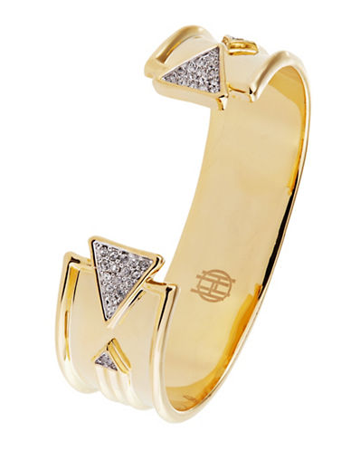 HOUSE OF HARLOW 1960Pave Accented Cuff Bracelet