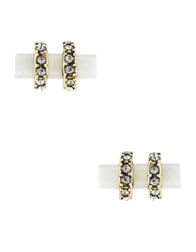 HOUSE OF HARLOW 1960 Resin Bar And Pave Stud Earrings