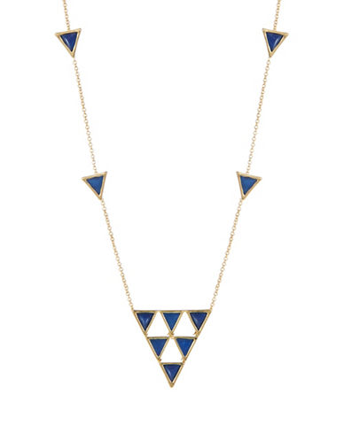 HOUSE OF HARLOW 1960 Triangle Accented Scatter Necklace